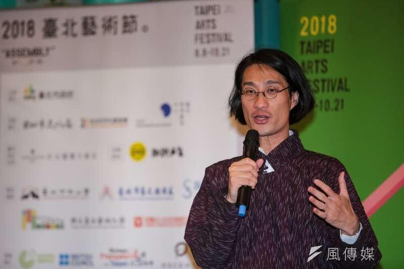 20180809-台北藝術節策展人鄧富權9日出席「第20屆台北藝術節」開幕記者會。(顏麟宇攝)