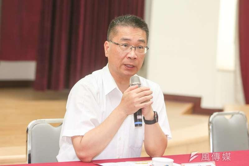 內政部長徐國勇認為,這麼大的雨若一直下,再好的水利設施仍然會淹水,民進黨治水還是有效的。(資料照,陳明仁攝)