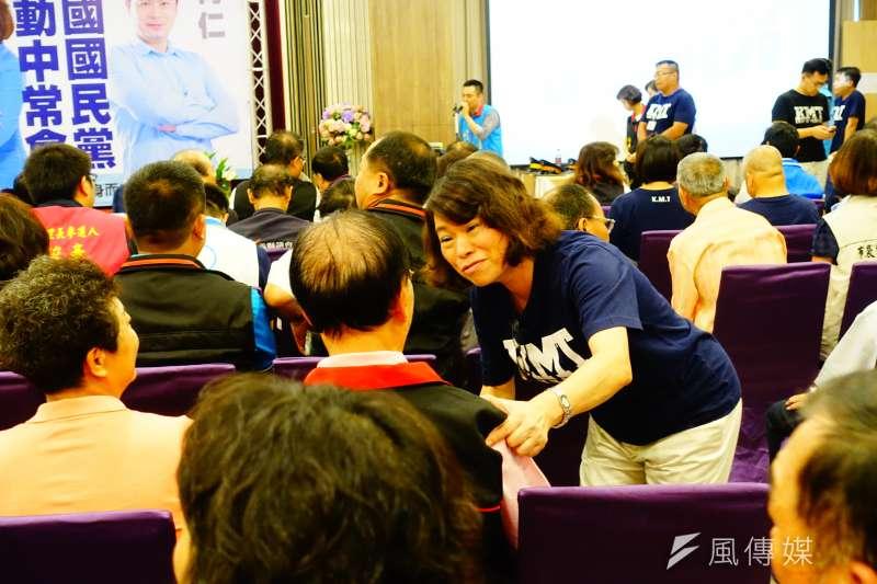 20180812-國民黨嘉義市長參選人黃敏惠出席國民黨8日舉行的行動中常會。(羅暐智攝)