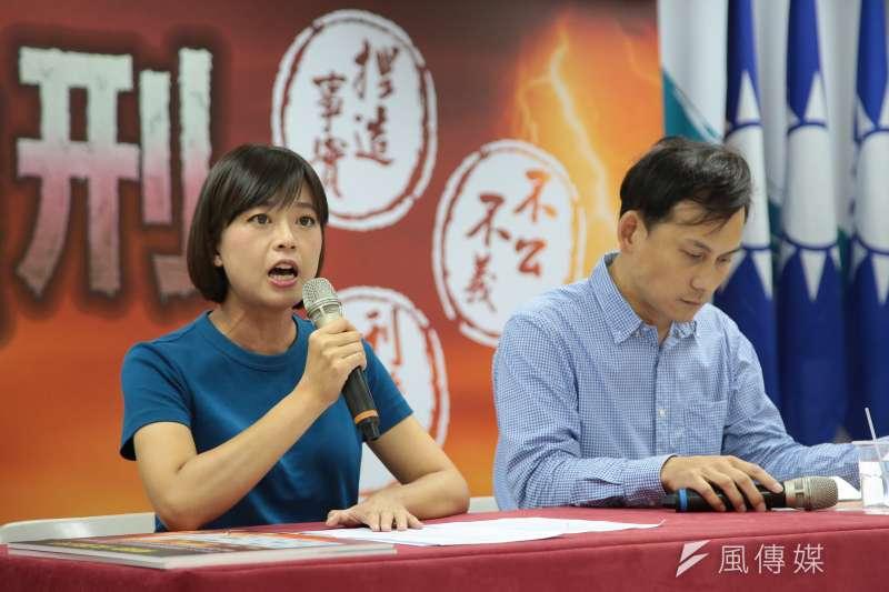 新北市長朱立倫的兩位發言人江怡臻(左)與葉元之(右),以新人之姿參選議員,分別奪下該選區第一和第二,成績亮眼。(資料照,顏麟宇攝)