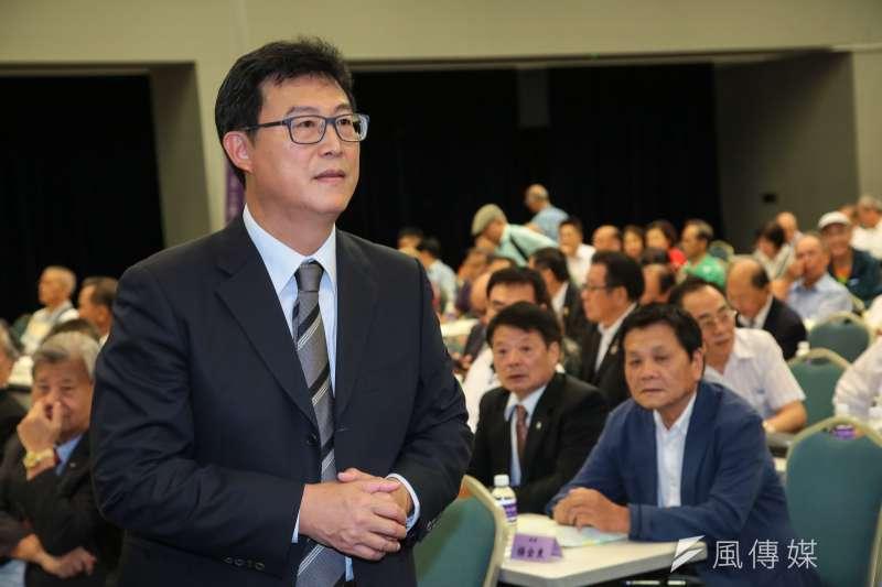 20180815-民進黨台北市長參選人姚文智15日出席「台北市小英之友會會員大會」。(顏麟宇攝)