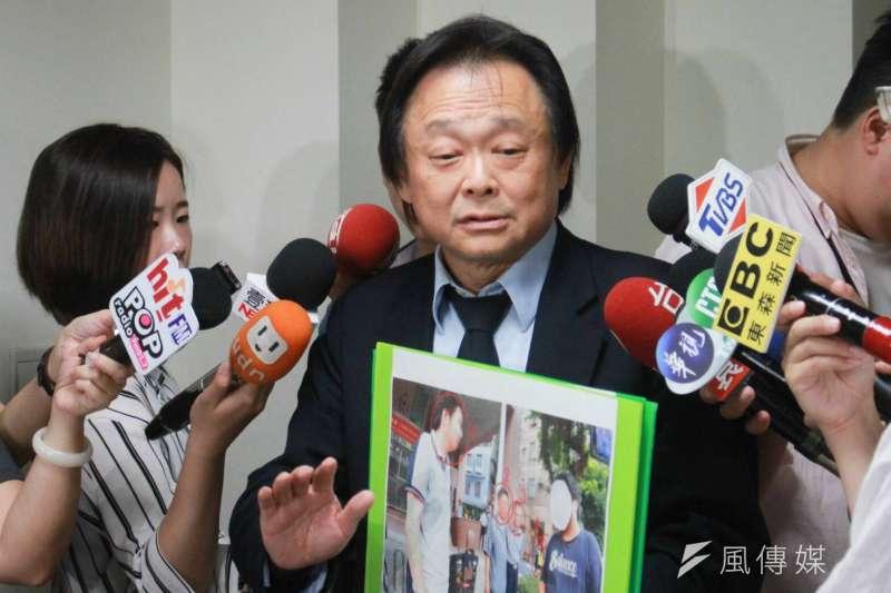 20180815-台北市議員王世堅接受媒體訪問。(方炳超攝)