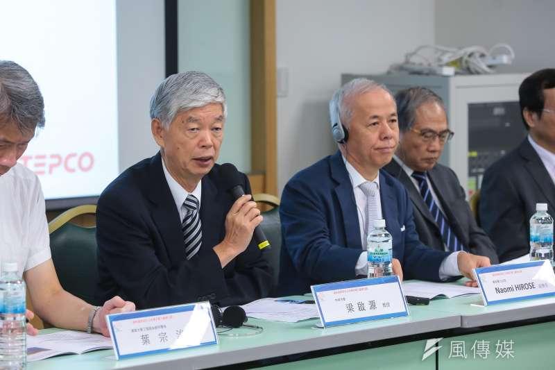 20180816-前政務委員梁啟源16日出席「2018福島復原現況:日本東京電力重建之路」座談會。(顏麟宇攝)