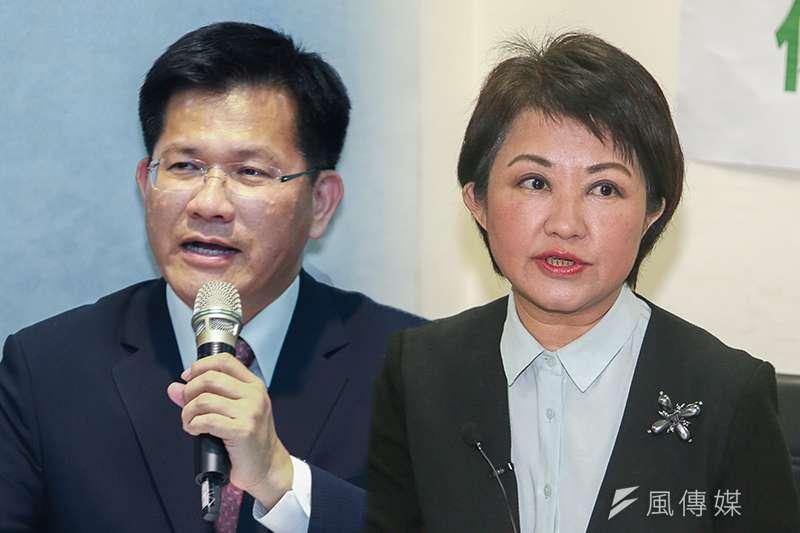 台中市長選舉是今年關鍵戰區,現任市長林佳龍(簡必丞攝)陣營,不但要贏國民黨對手盧秀燕(陳明仁攝),還揚言要贏10萬票。