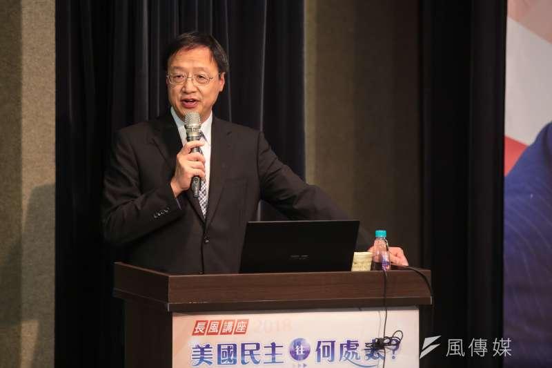 長風基金會董事長江宜樺回台大演講却遭到阻斷。(資料照,顏麟宇攝)
