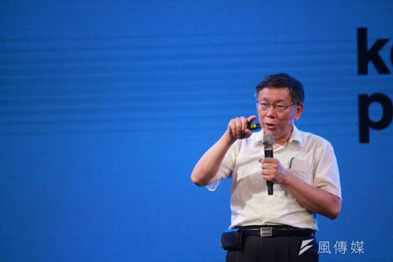 曾任柯文哲競選總部顧問、監票部隊執行長的劉坤鱧18日晚間在臉書爆料,質疑柯文哲(見圖)疑似是「慣老闆」。(方炳超攝)
