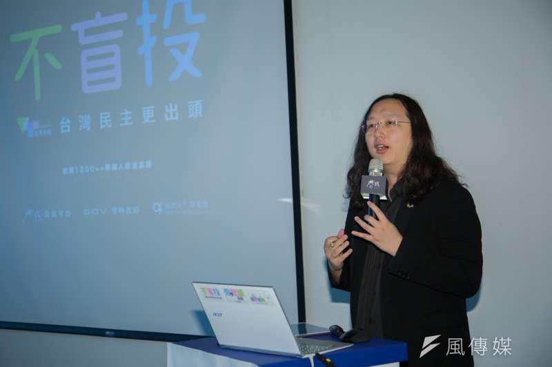 政務委員唐鳳談「假新聞(消息)」,隔日行政院就為她發出澄清新聞。(簡必丞攝)