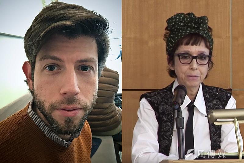 美國紐約大學博士畢業生萊特曼(左)指控指導教授、知名女權主義者羅內爾性騷擾(AP,風傳媒製圖)