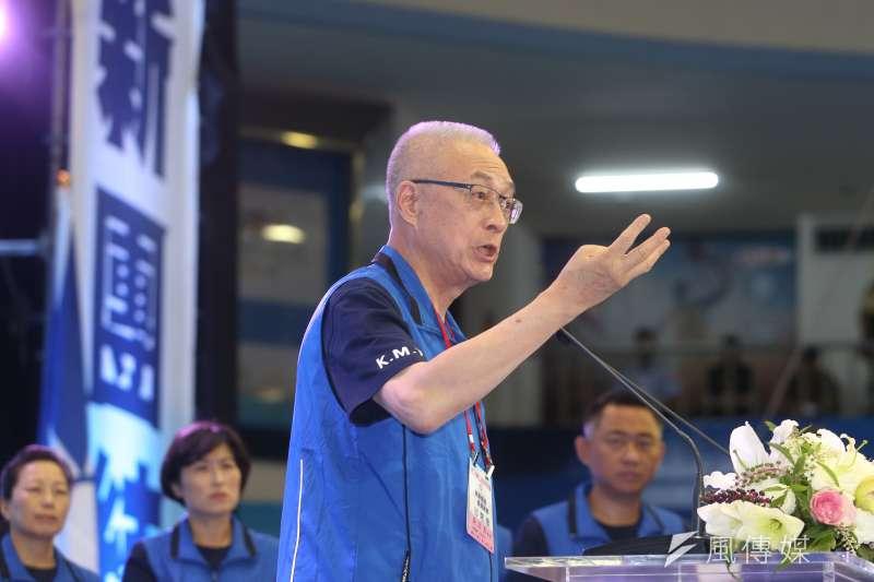 2018年8月19日,國民黨舉行第20屆全代會,主席吳敦義致辭(陳明仁攝)