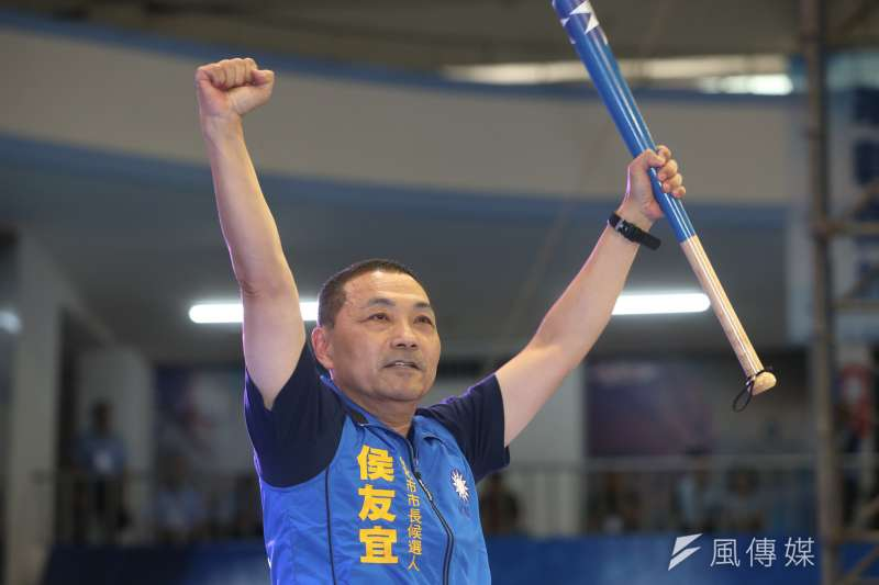 2018年8月19日,國民黨舉行第20屆全代會,侯友宜上場揮棒(陳明仁攝)