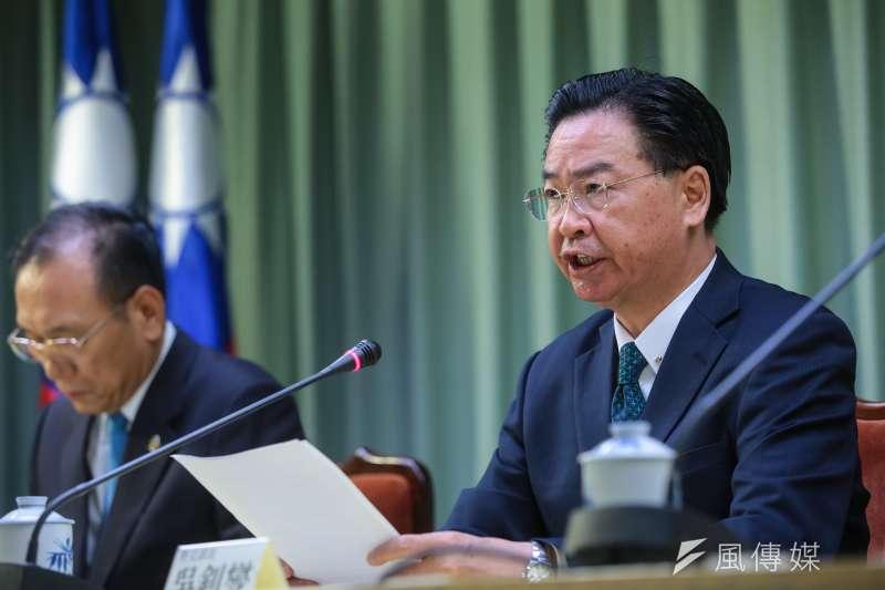外交部長吳釗燮21日宣布我國與薩爾瓦多終止外交關係。(顏麟宇攝)