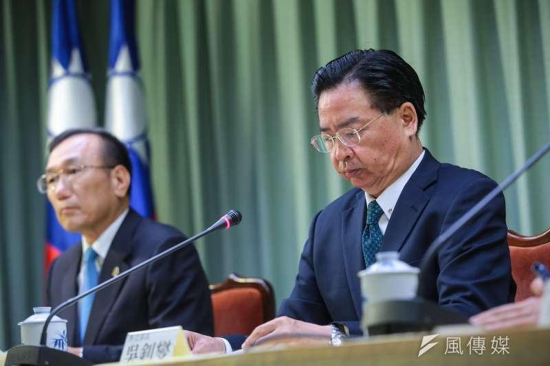 外交部長吳釗燮布我與薩爾瓦多終止外交關係。(顏麟宇攝)