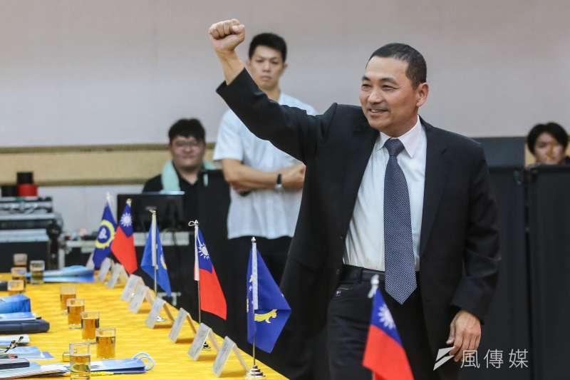 國民黨新北市長參選人侯友宜21日出席「紀念823台海戰役戰勝60週年」學術研討會。(顏麟宇攝)