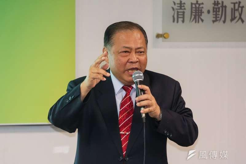 20180822-澎湖縣長陳光復22日出席民進黨中常會。(顏麟宇攝)