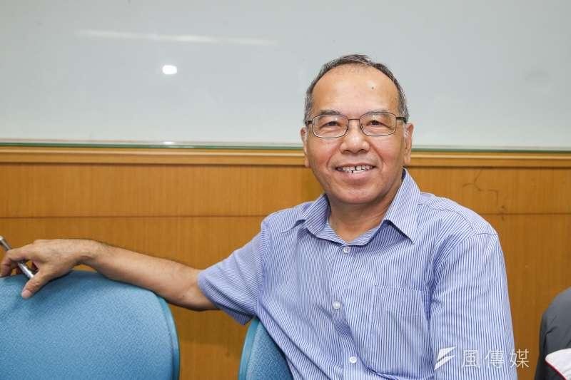 師大東亞系退休教授潘朝陽、出席20180822-台灣文化與教育研究學會「反對去中國化歷史課綱」記者會。(陳明仁攝)
