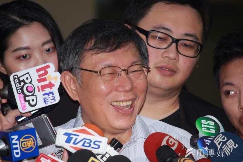 根據民調結果顯示,20-39歲的受訪者之中,不論認同是台灣獨立、維持現狀或兩岸統一,表態會在總統大選中投給台北市長柯文哲者皆超過5成6。(資料照,方炳超攝)
