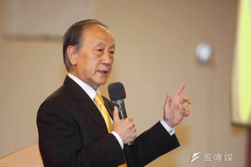 新黨主席郁慕明,出席20180826-新黨25周年黨慶。(陳明仁攝)
