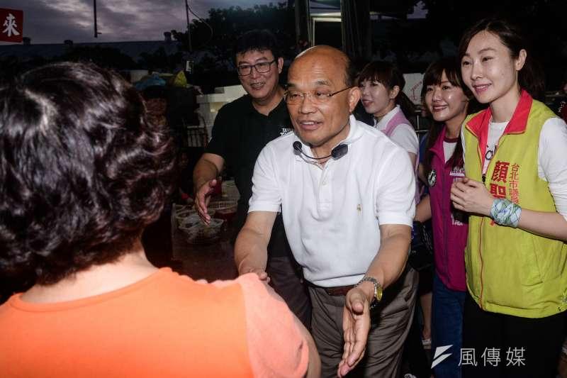 民進黨新北市長侯選人蘇貞昌對蔡政府執行死刑的立場引發議論(甘岱民攝)