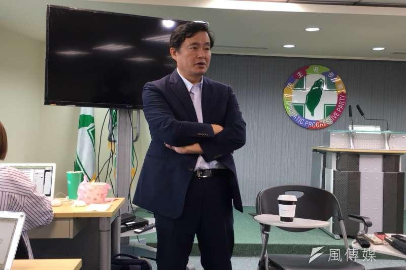 20180830_民進黨秘書長洪耀福。(顏振凱攝)