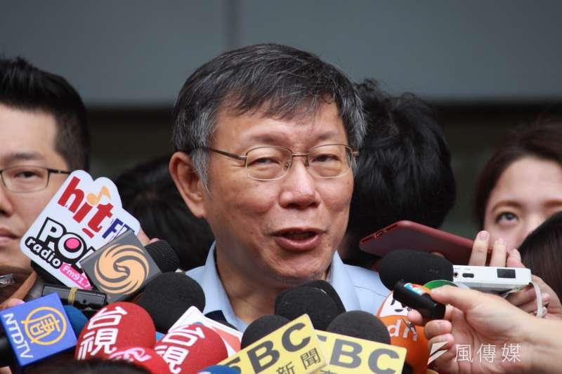 台北市長柯文哲。(資料照片,方炳超攝)