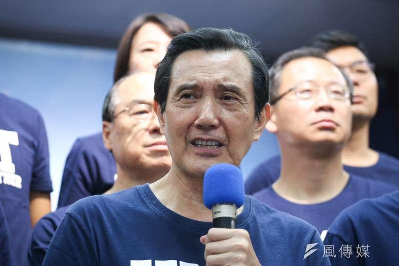 作者認為,馬英九身為卸任總統,至今除了勤輔選之外,依然持續每天對媒體公布他的行程,要說他真的會從此甘居退休生活,實在很難有說服力。(資料照,陳品佑攝)