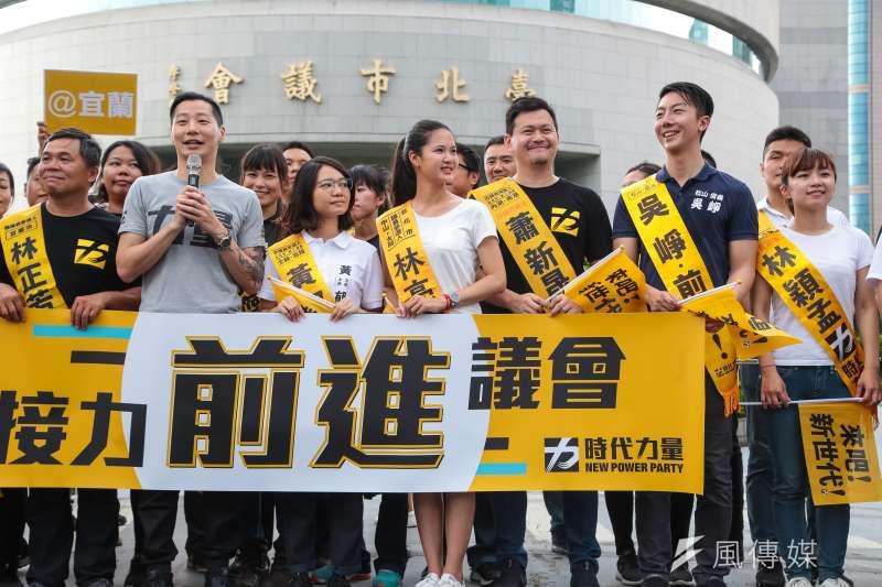 時代力量在台北選區友柯色彩重的議員候選人林亮君、黃郁芬都上榜,再加上林穎孟一共3席,林昶佐主導、與黨中央不同調的台北戰法得到勝利。(資料照,顏麟宇攝)