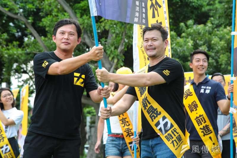 20180902-時代力量台北市議員參選人蕭新晟2日出席「接力!時代力量夏日全國巡迴,最終場全國大會師」活動。(顏麟宇攝)