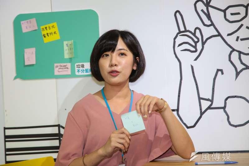 20180903-學姐黃瀞瑩3日正式加入柯文哲競選團隊。(顏麟宇攝)
