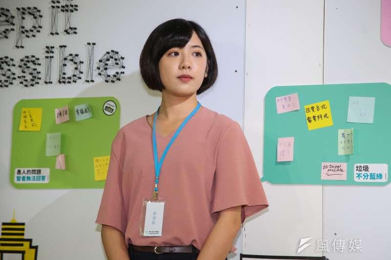 台北市長柯文哲坦承曾問學姊黃瀞瑩(見圖)是否參加立委補選。(資料照,顏麟宇攝)