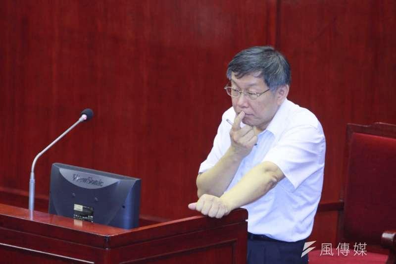 民進黨搞不垮台北市長柯文哲,作者柯文哲會被中共搞死。(方炳超攝)