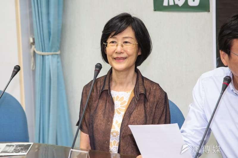 20180904-前法務部長羅瑩雪4日出席「罪證明確法界公開批評,林佳龍不賄選就不會選!?」記者會。(顏麟宇攝)