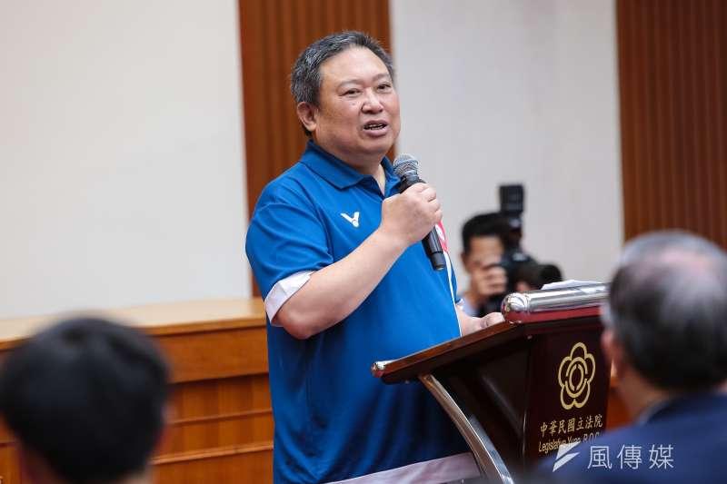 20180904-第18屆亞運中華代表團長林鴻道4日至立院拜會立法院長蘇嘉全。(顏麟宇攝)