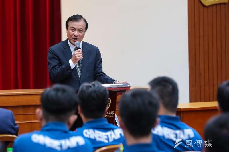 20180904-立法院長蘇嘉全4日接見第18屆亞運中華代表團。(顏麟宇攝)