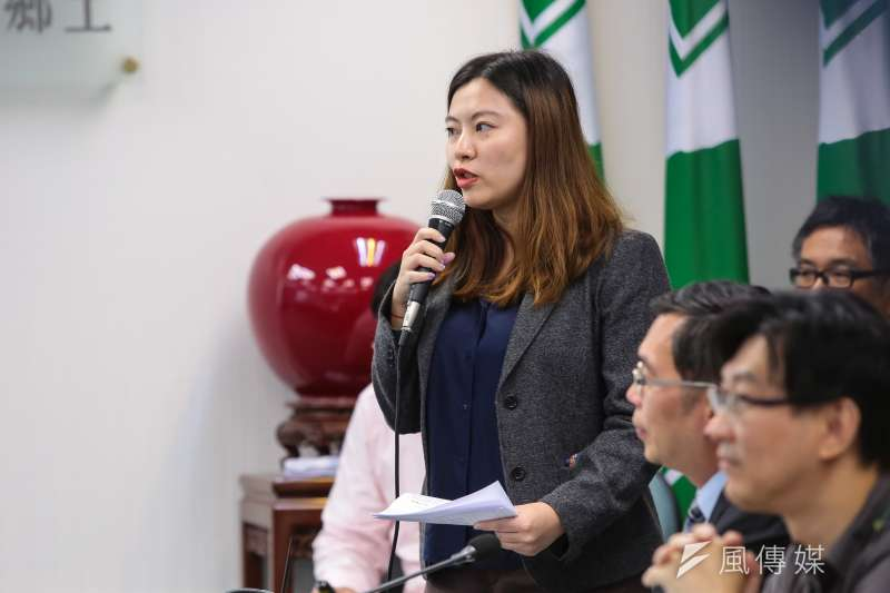 20180905-民進黨發言人何孟樺5日主持民進黨中常會。(顏麟宇攝)