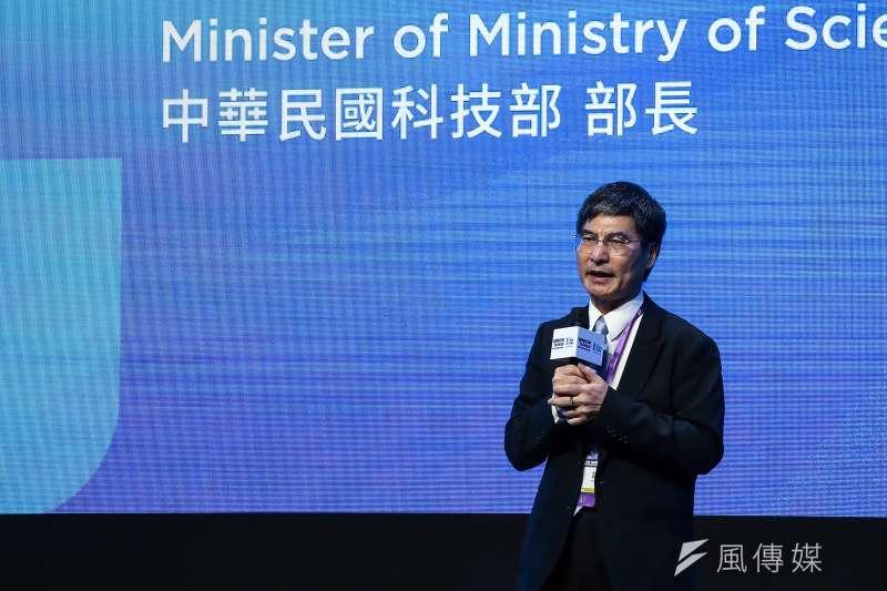 科技部部長陳良基出席「SEMICON Taiwan 2018 國際半導體展」開幕典禮 。(資料照:陳品佑攝)