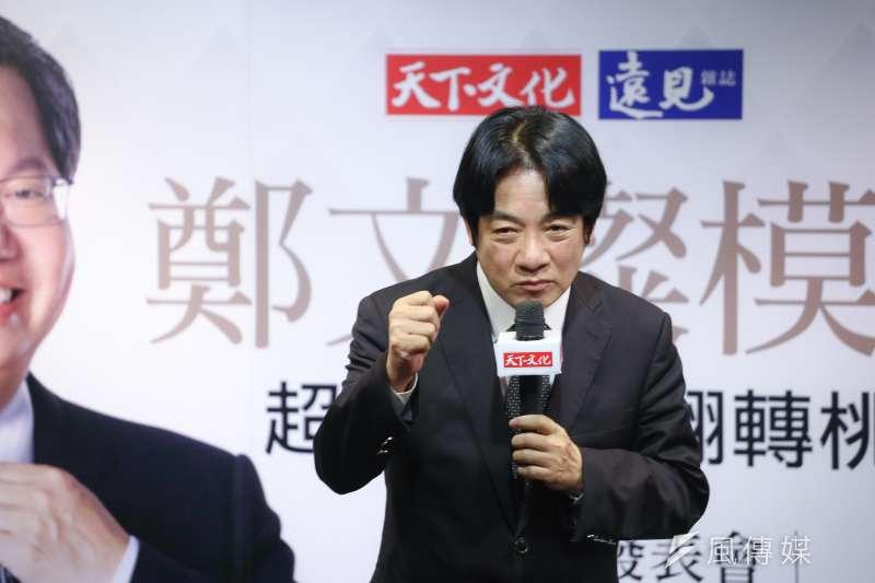 20180907-行政院長賴清德出席「鄭文燦模式」新書發表會。(陳品佑攝)