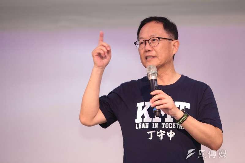 國民黨台北市長候選人丁守中8日表示,年底選舉將會有24%的人不再投柯文哲,而在柯文哲流失的這些選票裡,「我至少可以拿到一半以上」 。(顏麟宇攝)