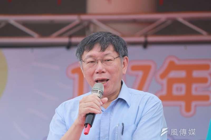 台北市長柯文哲8日在臉書發文檢討近日市場改進風波,他坦言自己確實態度不佳,未來面對批評,有道理的會趕緊修正,也希望外界持續給予批評與指教。(方炳超攝)