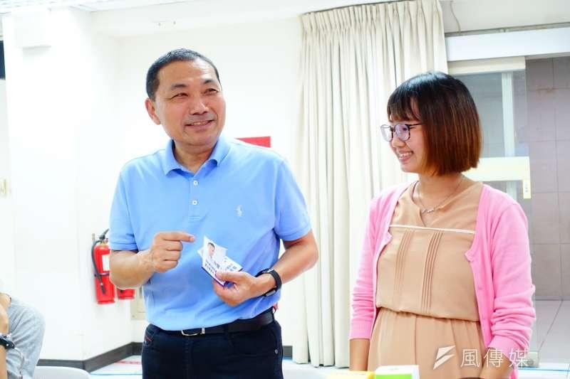 新北市長參選人侯友宜回應促轉會爭議。(資料照片,羅暐智攝)