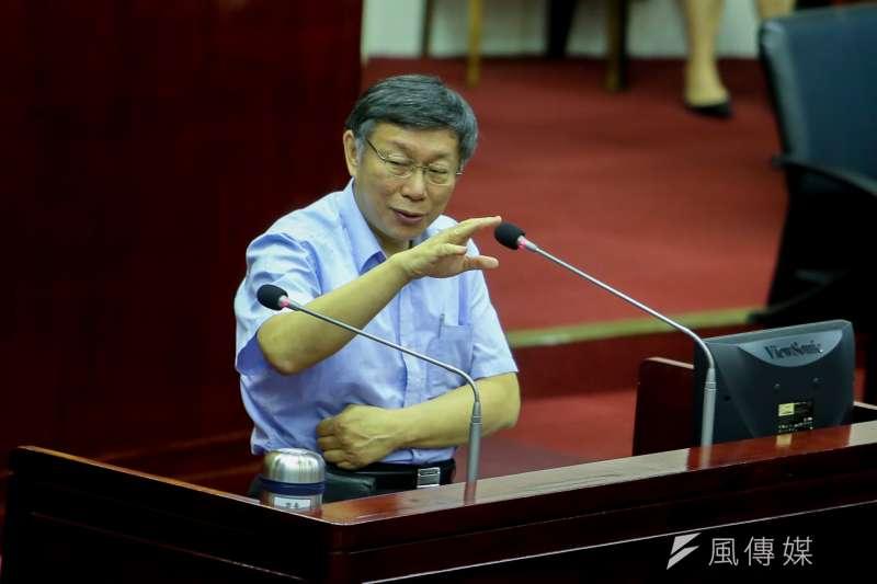 台北市長柯文哲。(陳明仁攝)