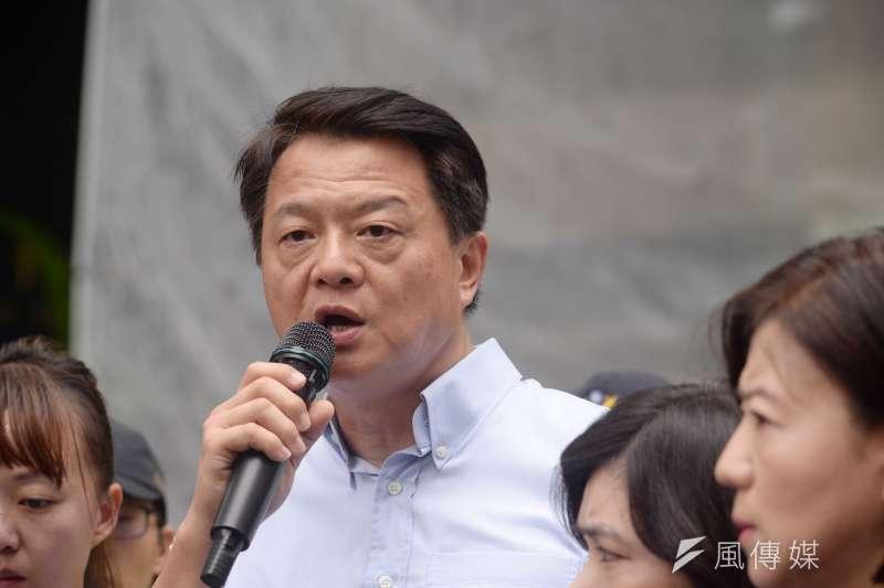 已經宣布參選總統的前台北縣長周錫瑋表示,「只要他當選總統,就要把阿扁關回去」。(資料照,甘岱民攝)