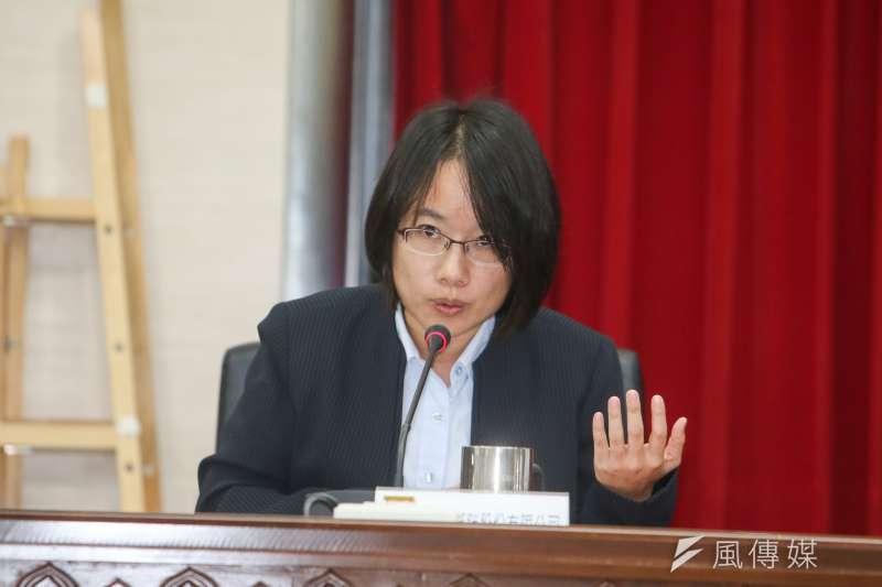 北農總經理吳音寧今出席第一果菜改建案雙首長會議。(陳明仁攝)
