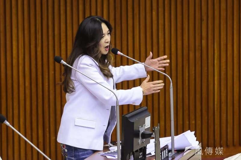 20180911-台北市議員應曉薇11日於市議會總質詢。(顏麟宇攝)