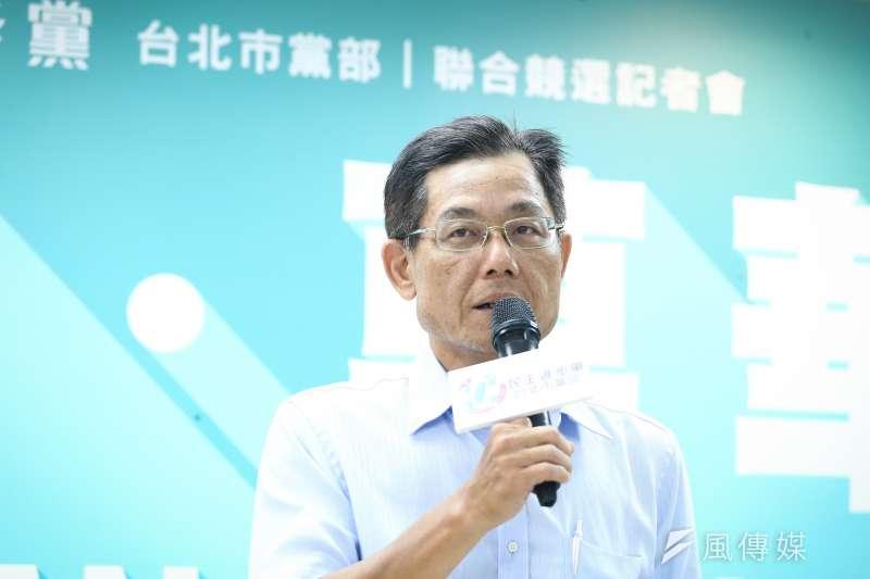 針對2020台北市立委選舉,民進黨台北市黨部主委陳正德表示,在8席立委中,希望能「保二搶一」,呼籲黨中央盡速決定人選,以利整合。(陳品佑攝)