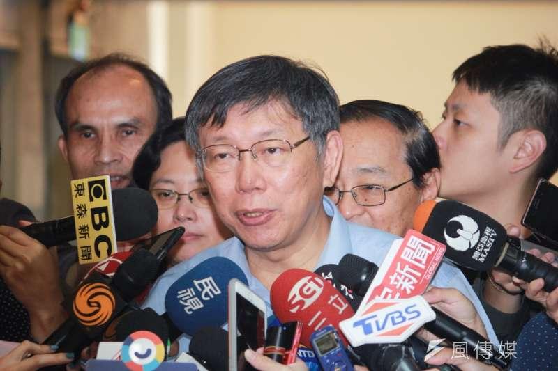 台北市長柯文哲表示,他根本沒有處理移植前的病人,怎麼可能帶病人去中國移植? (資料照,方炳超攝)