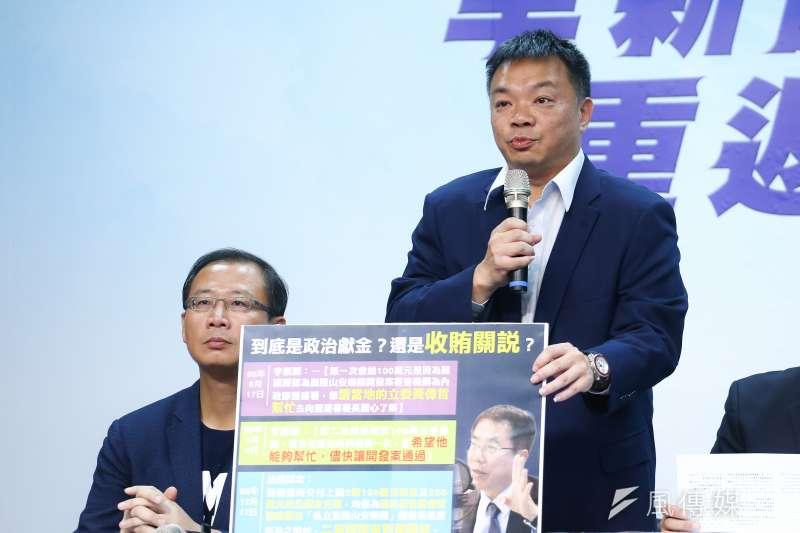 國民黨台南市長候選人高思博陣營認為,台南代理市長李孟諺連3天都帶著黃偉哲在市府開記者會,簡直是「球員兼裁判」。(資料照,陳品佑攝)