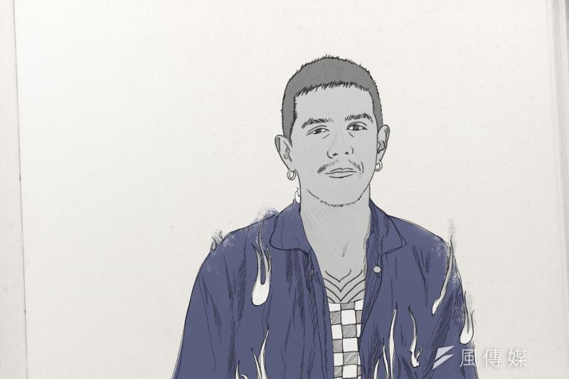 亞當計畫:澳洲與菲律賓混血的藝術家賈斯汀(風傳媒製圖)