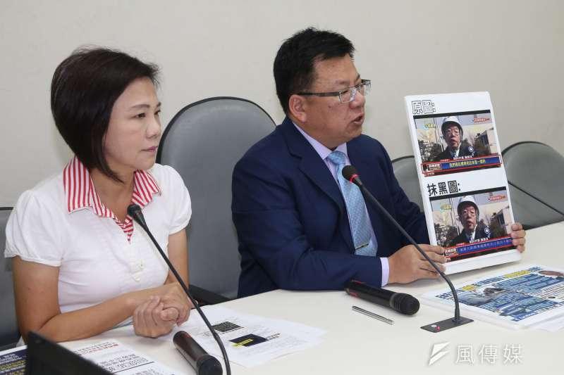 民進黨團幹事長李俊俋指出,林明溱當初講的侏儸紀公園如今連個影都沒有,但縣府錢都花下去,花了1.2億元預算買土地。(資料照片,陳明仁攝)