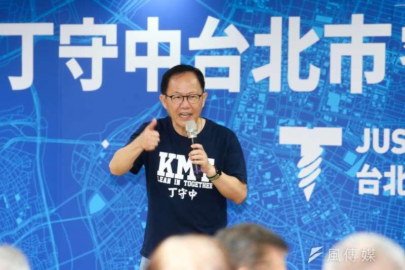 國民黨前立委蔡正元認為台北市長參選人丁守中「像是在選市議員」、「幾乎穩輸」,對此,丁守中22日回應,「我謝謝他的指教,謝謝」。(資料照,陳明仁攝)