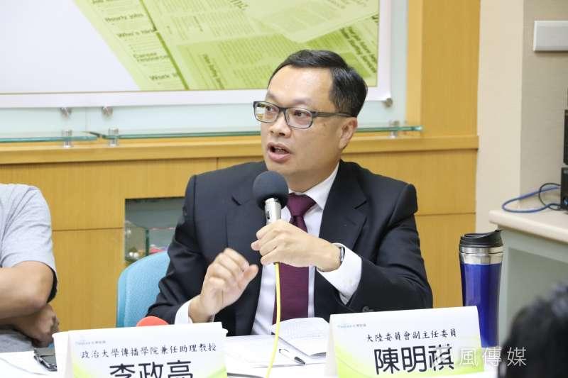 針對中國對台最新措施,陸委會副主委陳明祺指出,台灣作為民主國家,人民有移動自由,不會刻意去調查或阻止。(資料照,陳煜攝)